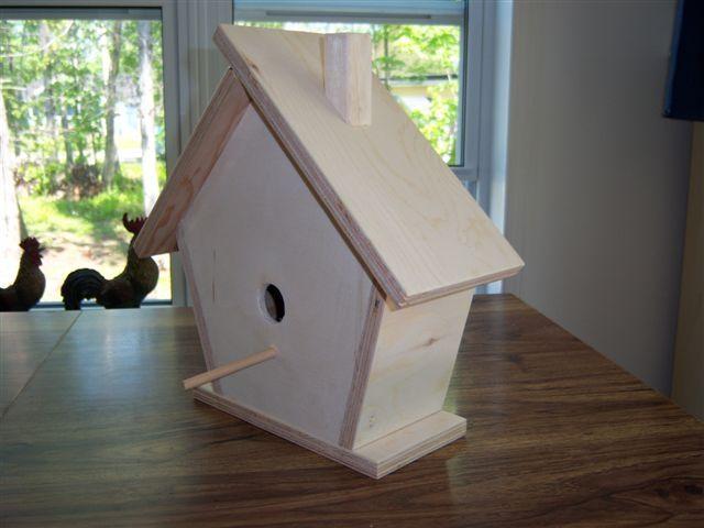 cabane à oiseaux fait maison (caban ~ Cabane Oiseaux Bois